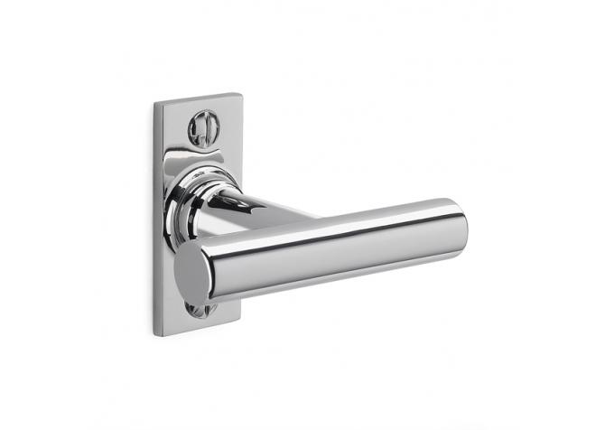 Window handle nickel-plated brass