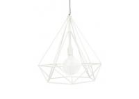 Diamond Cage Lamp 3 x Milk