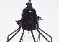 Lampa z klatką czarną