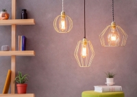 Cage Lamp W1 - Brass
