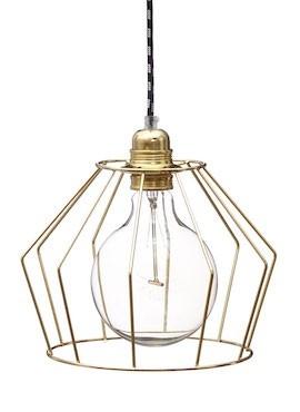 Lampa z klatką W1 - Mosiądz