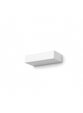 Rectangular Ceramic White Wall Lamp - small