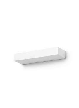 Kinkiet Ceramiczny Prostokątny Biały - średni