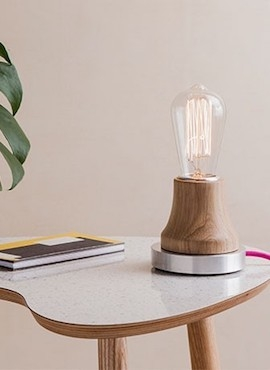 Lumica Lamp: Wood and Aluminium