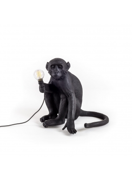Monkey Lamp Black - sitting