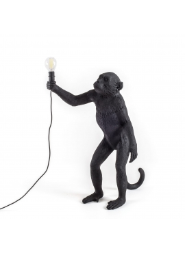 Monkey Lamp Black - standing