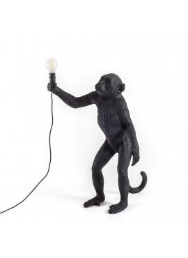 Monkey Lamp Black - standing