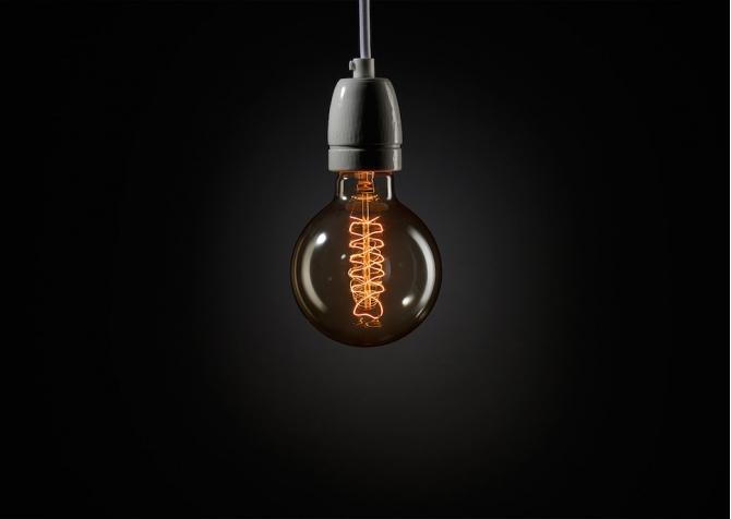 Midi Spiral Sphere Decorative Light Bulb