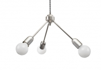 Raw Steel Trio Hanging Lamp