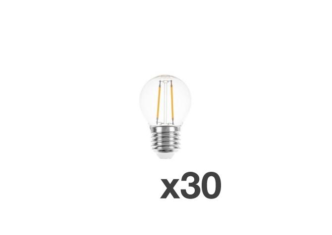 Set of 30 lightbulbs for festoon lights