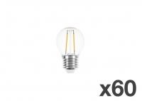 Set of 60 lightbulbs for festoon lights