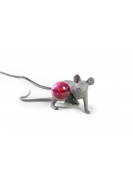 Lampa Biurkowa - Leżąca Mysz Szara