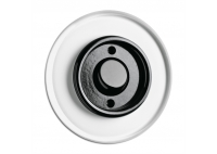 Glass bell button button THPG PT white